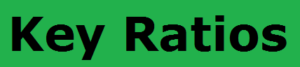 Important Ratios